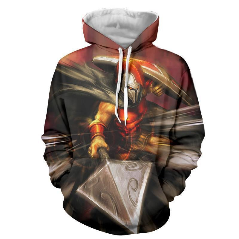 17e8d65472c9 League of Legends Pantheon Artisan of War Fighter 3D Print LOL Hoodie —  Superheroes Gears