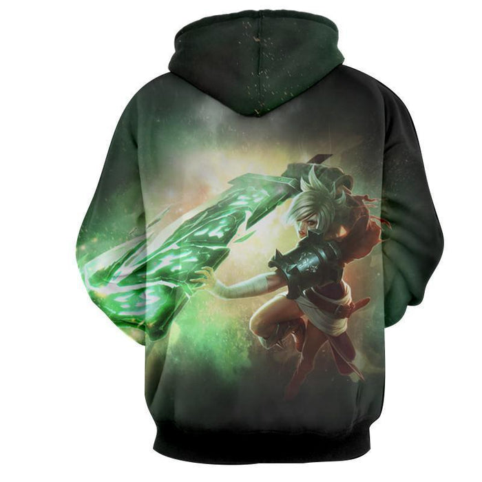 League of Legends Riven Dominant Broken Sword Fighting Trendy Hoodie