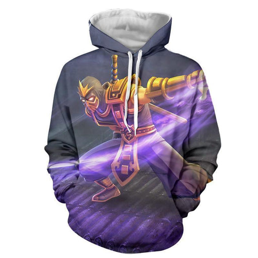 League of Legends Shen Attacking With Vorpal Blade Comfy Hoodie