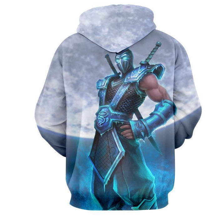League of Legends Shen The Mysterious Knight In Blue Color Hoodie