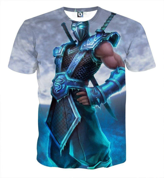 League of Legends Shen The Mysterious Knight In Blue Color T-Shirt