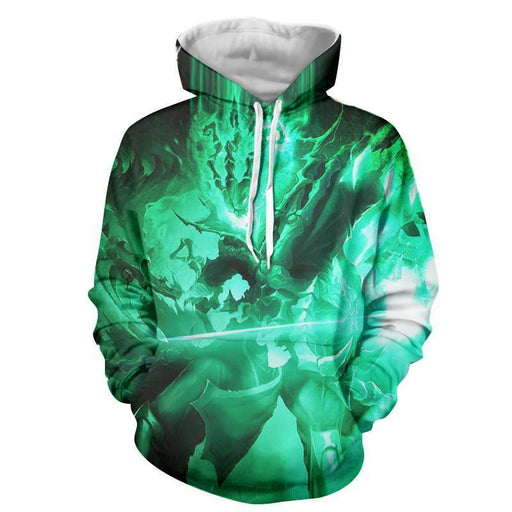 League of Legends Thresh Battling Death Power Vibrant Color Hoodie