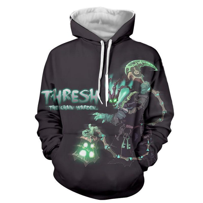 League of Legends Thresh Champion The Chain Warden Print Hoodie