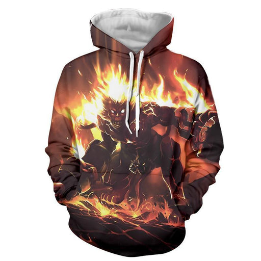 League of Legends Volcanic Wukong Attacking Gaming Art Cool Hoodie