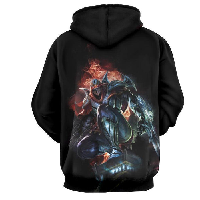 League of Legends Zed The Master of Shadow Character Print Hoodie