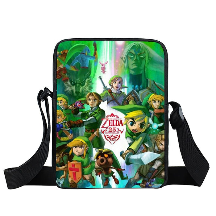 Legend of Zelda Link Fan Art Design Green Cross Body Bag