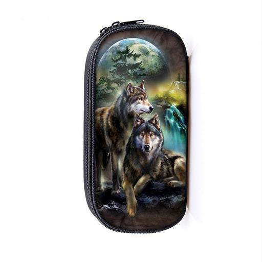 Lovely Couple Wolves Looking Out in the Wild Pencil Case