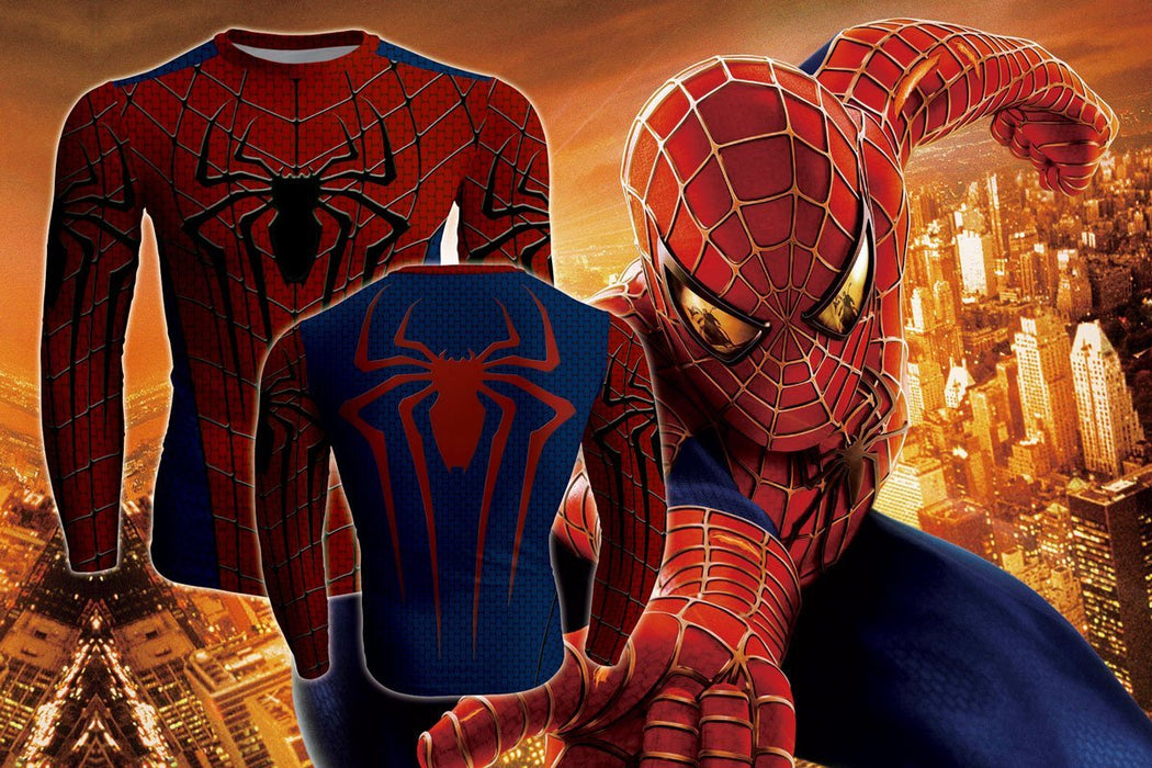 Marvel Amazing Spiderman Cool Long Sleeves Workout T-shirt