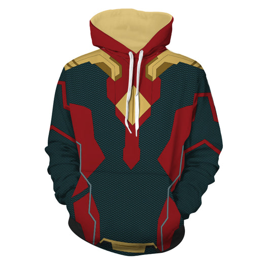 Marvel Avengers Vision Android Superhero Suit Cosplay Hoodie