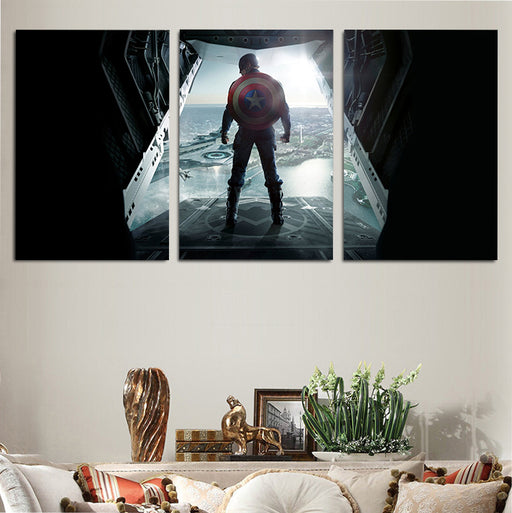 Marvel Badass Captain America Steve Rogers 3pcs Canvas Print