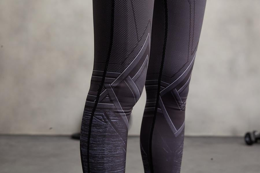 Marvel Black Panther Compression 3D Printed Women Training Leggings