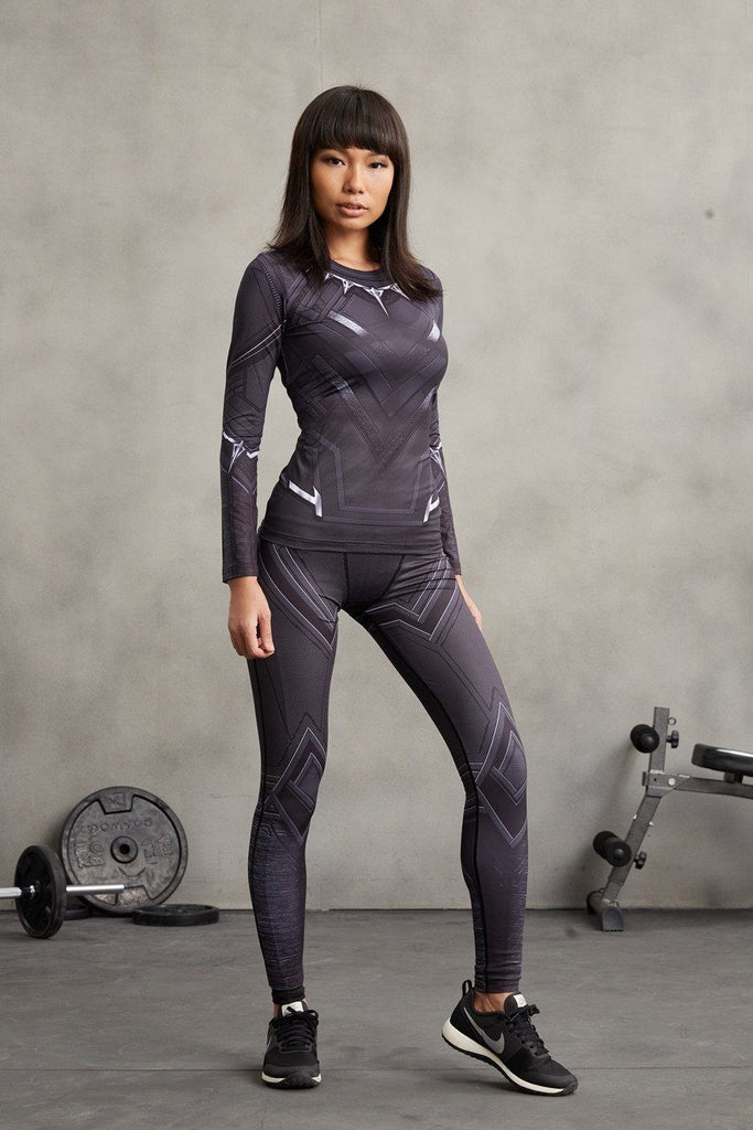 0d3752db3f7732 Marvel Black Panther Compression 3D Printed Women Training Leggings — Superheroes  Gears