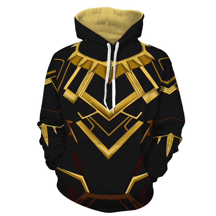 Marvel Black Panther Erik Killmonger N'Jadaka Cosplay Hoodie