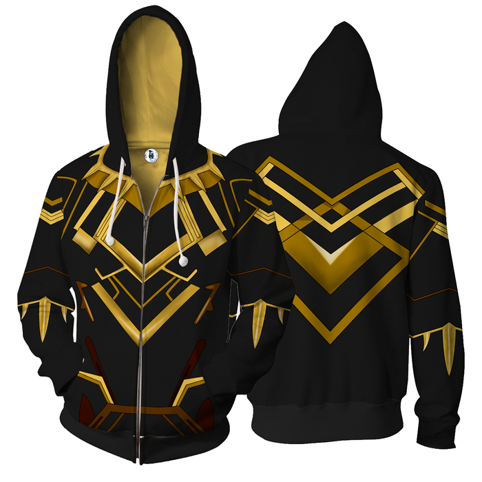 Marvel Black Panther Erik Killmonger N'Jadaka Zip Up Hoodie