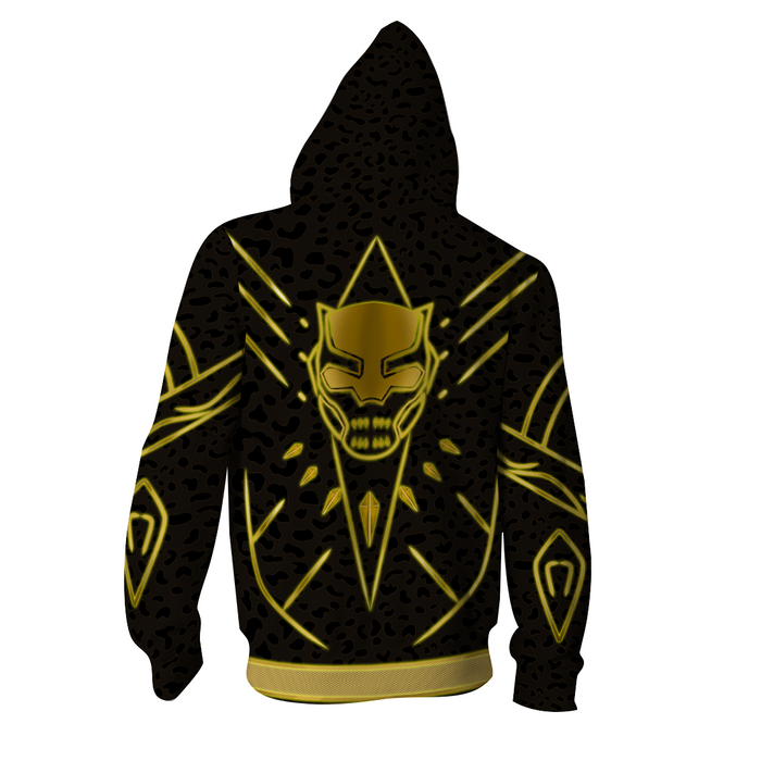 Marvel Black Panther N'Jadaka Erik Killmonger Zip Up Hoodie