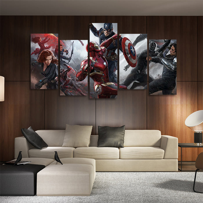 Marvel Captain America Civil War 5pcs Wall Art Canvas Print