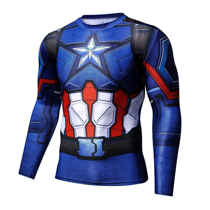 Marvel Captain America Long Sleeves 3D Full Print T-shirt