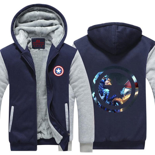Marvel Captain America Powerful Fighting Cool Hooded Jacket