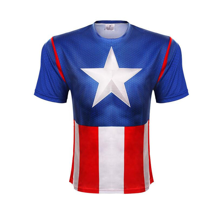 Marvel Captain America Cool Classic Workout Compression T-shirt