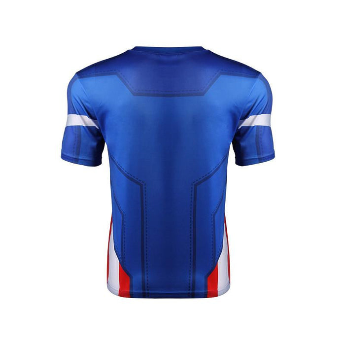 Marvel Captain America Stylish Modern Design Fitness 3D T-shirt