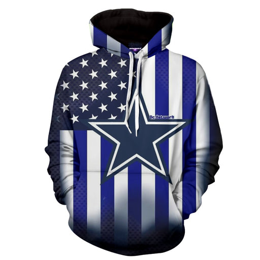 Marvel Comics Captain America Blue Full Print Hoodie