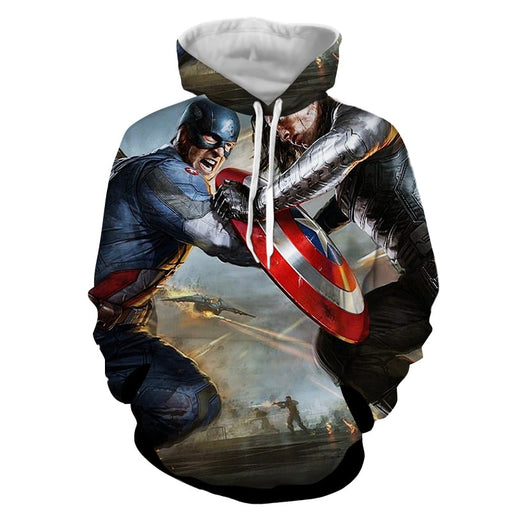 Marvel Comics Captain America Vs Thor Cool Hoodie