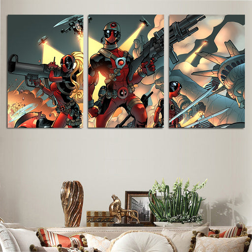 Marvel Comics Deadpool From Alternate Realities 3pcs Canvas