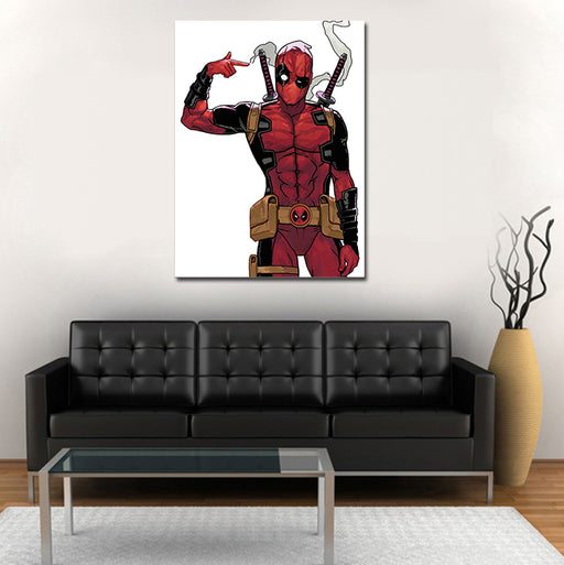 Marvel Comics Deadpool Shot In The Head Pose 1pc Canvas Art