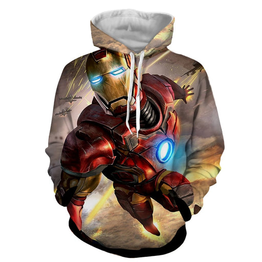 Marvel Comics Indestructible Iron Man Full Print Hoodie