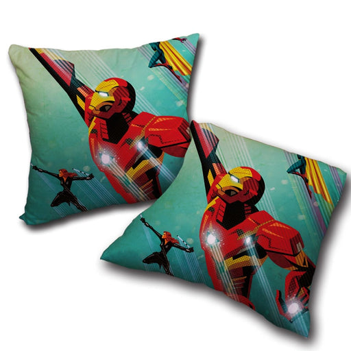 Marvel Comics Iron Man In Rush Attack Throw Pillow