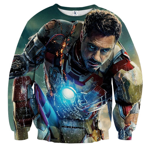 Marvel Comics Philanthropist Tony Stark Design Sweatshirt
