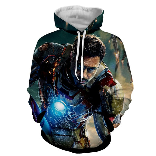 Marvel Comics Philanthropist Tony Stark  Full Print Hoodie