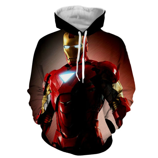 Marvel Comics Powerful Iron Man Style Full Print Hoodie
