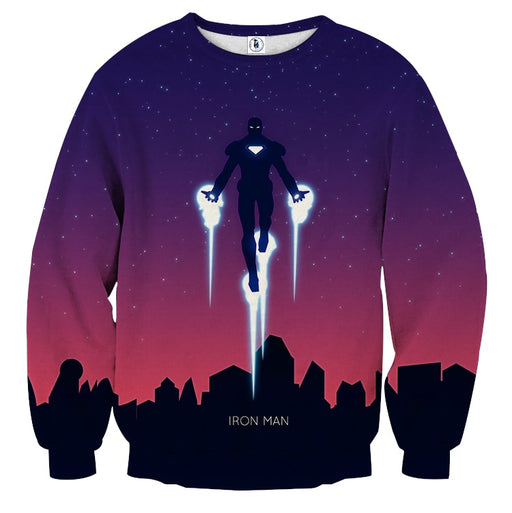 Marvel Comics Soar High Iron Man Design Sweatshirt