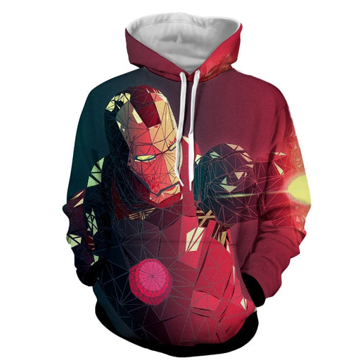 Marvel Comics The Fierce Iron Man Full Print Hoodie