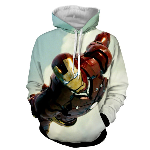 Marvel Comics The Intense Iron Man Full Print Hoodie