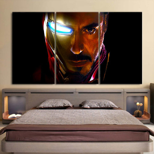Marvel Comics The One Eye Iron Man Style 3pcs Canvas Print
