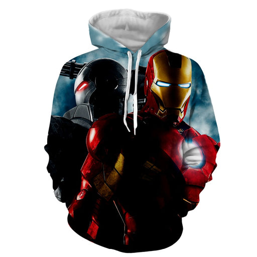 Marvel Comics Two Iron Man Unique Design Full Print Hoodie