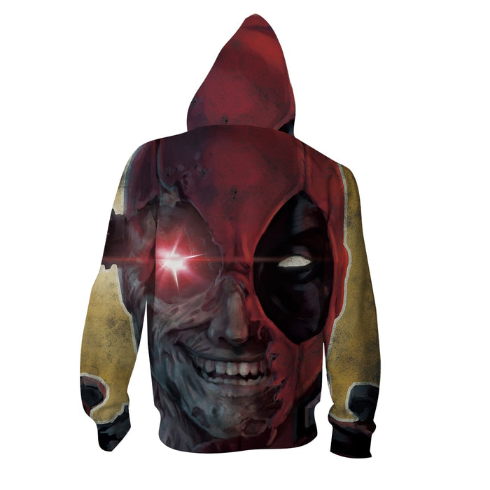 Marvel Crazy Deadpool Lunatic Wade Winston Wilson Red Hoodie