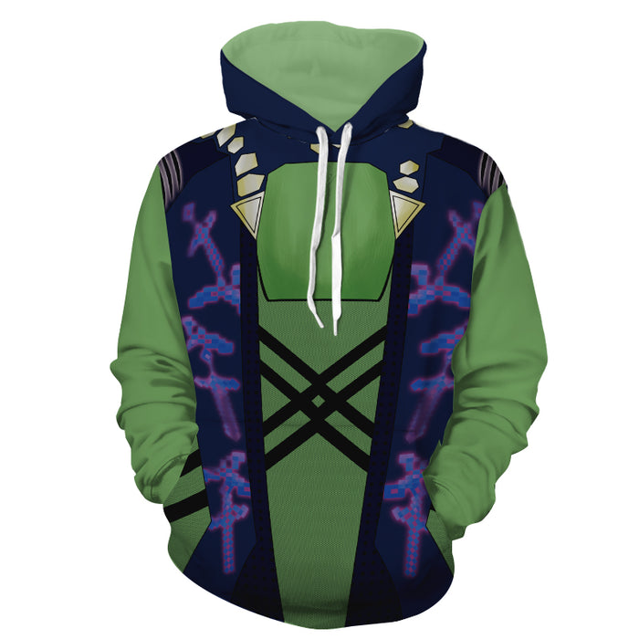 Marvel Guardians Of The Galaxy Gamora Green Cosplay Hoodie