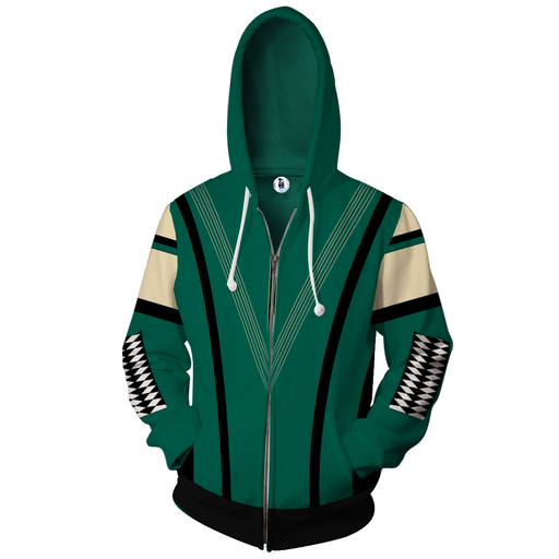 Marvel Guardians Of The Galaxy Mantis Green Zip Up Hoodie