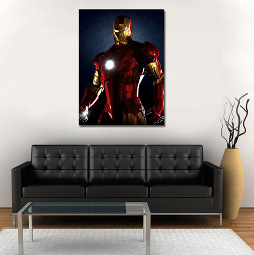Marvel Iron Man Armor Mark III 1pc Wall Art Canvas Print