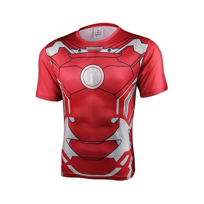 Marvel Iron Man Suit up Mark VII Cool Armor Workout 3D T-shirt