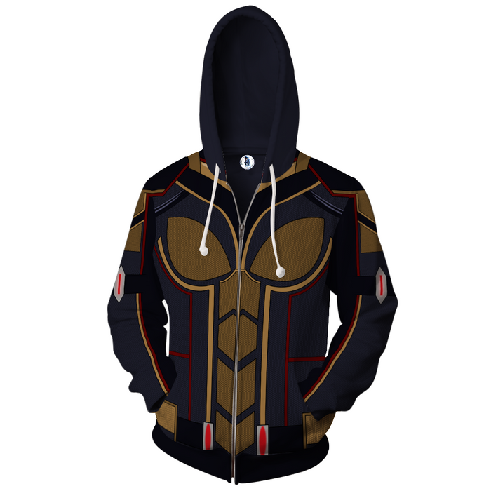 Marvel Magnificent The Wasp Hope Van Dyne Suit Zip Up Hoodie