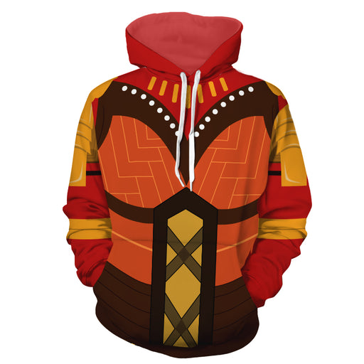 Marvel Okoyo Dora Milaje Leader Battle Suit Cosplay Hoodie