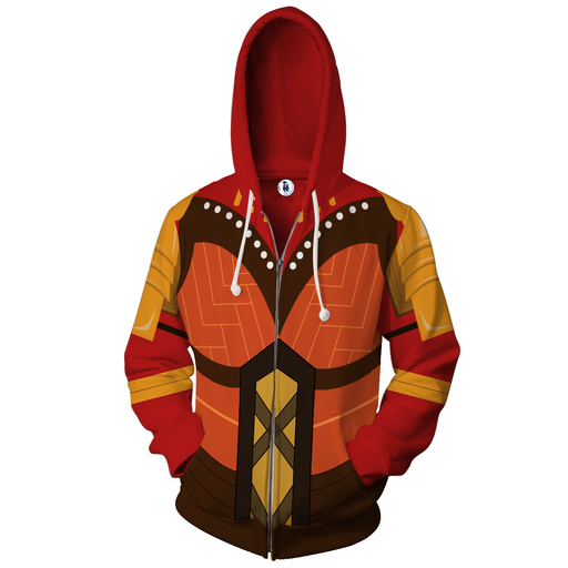 Marvel Okoyo Dora Milaje Leader Battle Suit Zip Up Hoodie