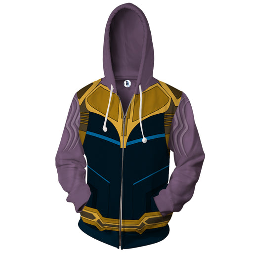 Marvel Powerful Thanos The Mad Titan Armor Zip Up Hoodie