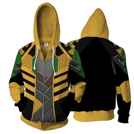 Marvel Prince Of Asgard God Of Mischief Loki Zip Up Hoodie
