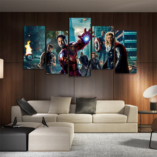 Marvel Superhero The Avengers 5pcs Wall Art Canvas Print