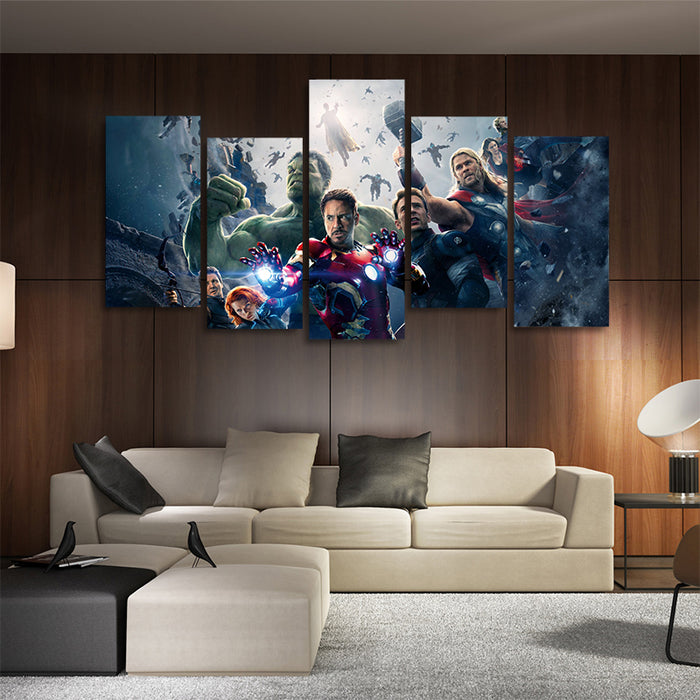 Marvel The Avengers Age Of Ultron 5pcs Wall Art Canvas Print